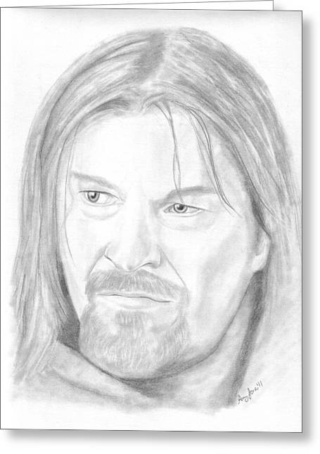 The Bean Drawings Greeting Cards - Boromir Greeting Card by Amy Jones