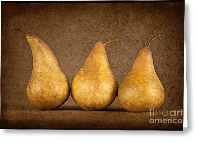 Bosc Greeting Cards - Bosc Pears Greeting Card by Heather Swan
