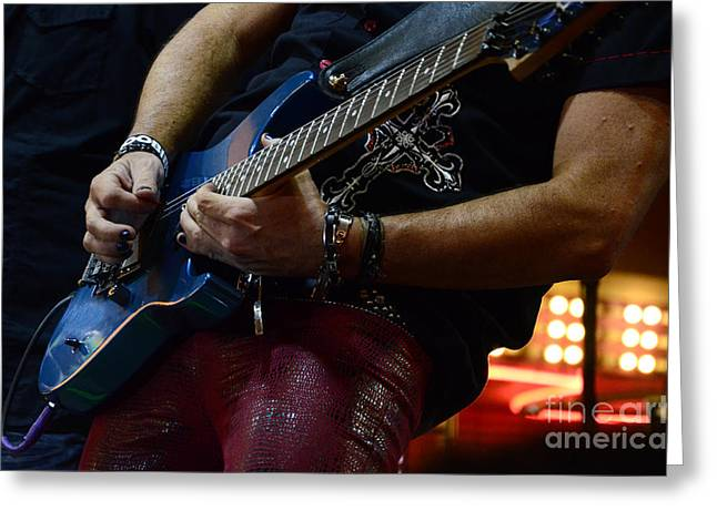 Live Music Greeting Cards - Boss Guitar Player Greeting Card by Bob Christopher