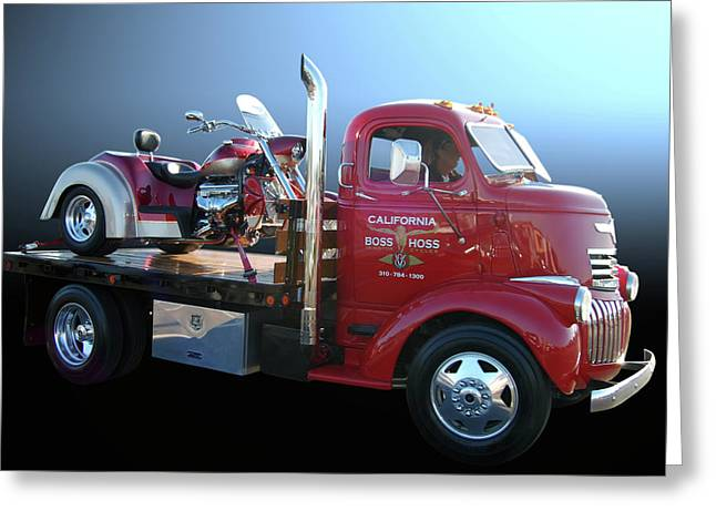Cruisin For A Cure Greeting Cards - Boss Hoss Truck Greeting Card by Bill Dutting