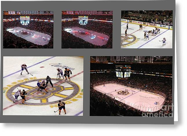 Td Garden Greeting Cards - Boston Bruins Greeting Card by Juergen Roth