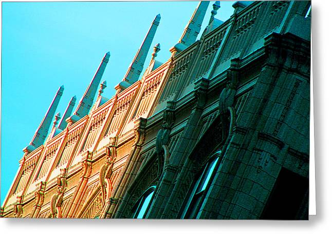 Spire Framed Prints Greeting Cards - Boston Facade Greeting Card by Marie Jamieson