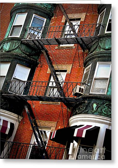House Work Greeting Cards - Boston house fragment Greeting Card by Elena Elisseeva