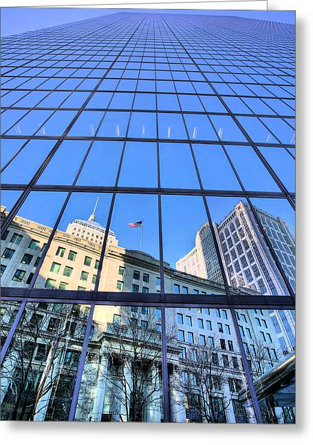 Bean Town Greeting Cards - Boston Greeting Card by JC Findley