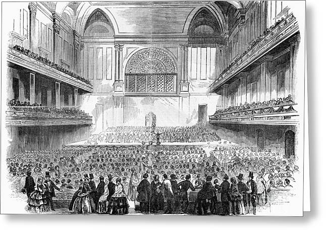 Symphony Hall Greeting Cards - Boston: Music Hall, 1856 Greeting Card by Granger