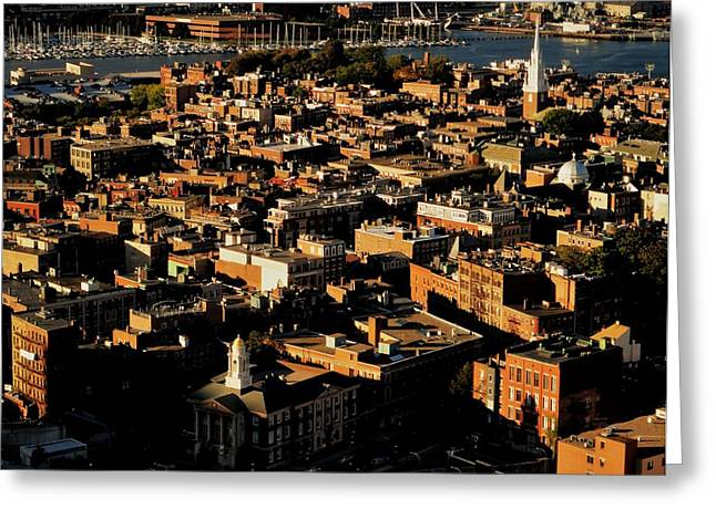 Old North Church Greeting Cards - Boston North End Greeting Card by Benjamin Yeager