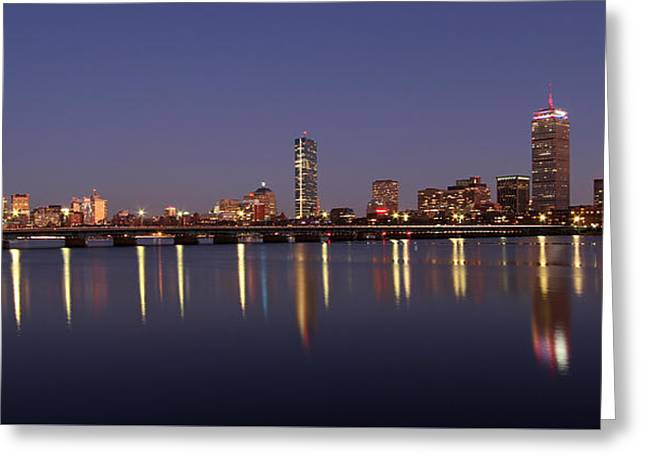 Boston Panoramic View Greeting Card by Juergen Roth