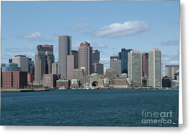 Boston Ma Pyrography Greeting Cards - Boston Greeting Card by Renata Zau