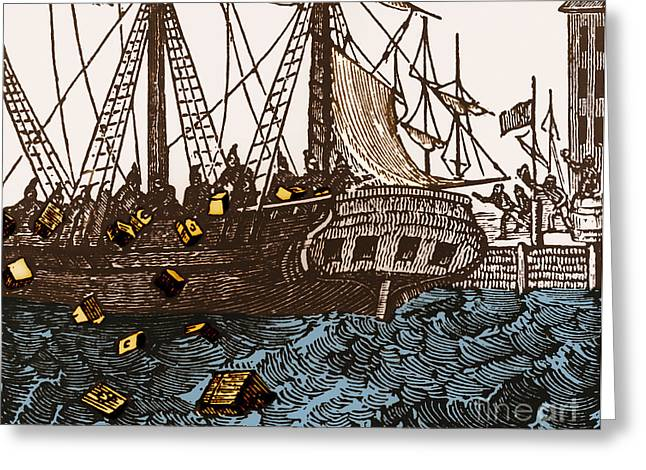Tea Party Greeting Cards - Boston Tea Party, 1773 Greeting Card by Omikron