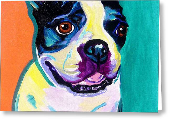 Boston Terrier - Jack Boston Greeting Card by Alicia VanNoy Call