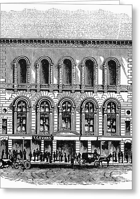 Outdoor Theater Greeting Cards - Boston: Tremont Temple Greeting Card by Granger