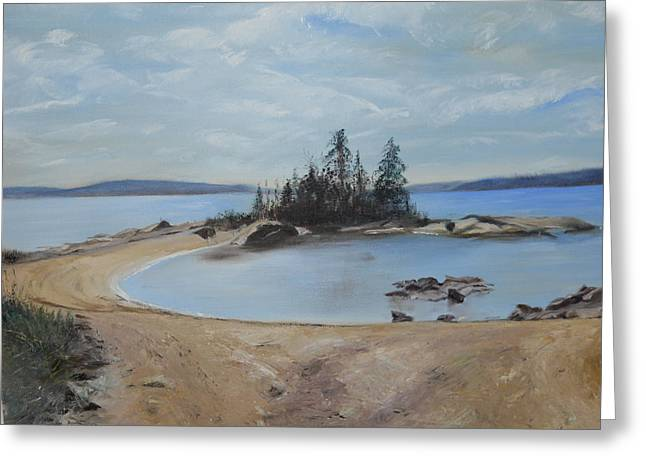 Boswell's Point-lake Superior Greeting Card by Joyce Reid