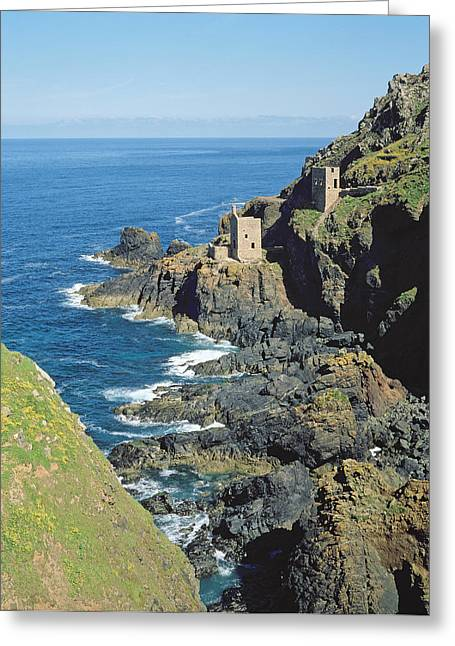 Mining Photos Greeting Cards - Botallack Mine Greeting Card by Botallack Mine