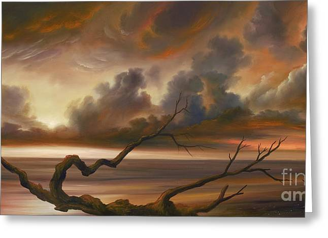 Dark Skies Paintings Greeting Cards - Botany Bay Greeting Card by James Christopher Hill