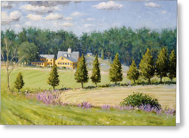 New England Farm Greeting Cards - Bothways Farm Greeting Card by Steven A Simpson