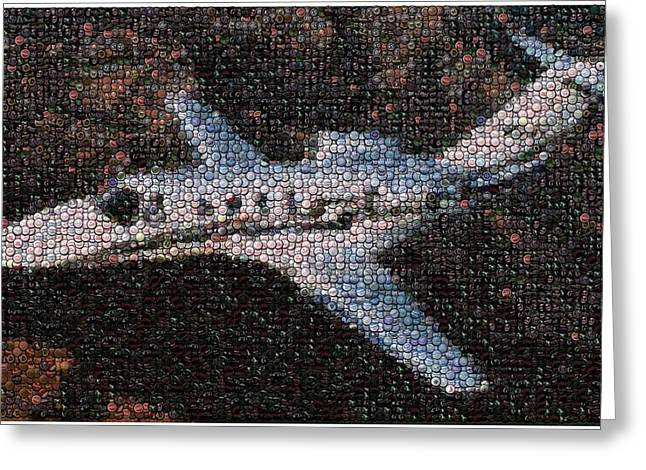 Bottlecaps Greeting Cards - Bottle Cap Cessna Citation Mosaic Greeting Card by Paul Van Scott