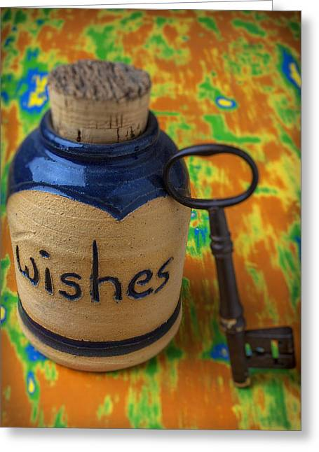 Wishes Greeting Cards - Bottle of wishes Greeting Card by Garry Gay
