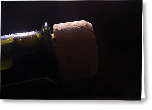 Bottles Greeting Cards - bottle top and Cork Greeting Card by Steve Somerville