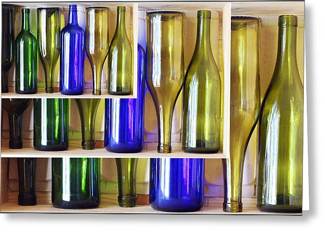 Wine Deco Art Photographs Greeting Cards - Bottles Greeting Card by Rees Gordon