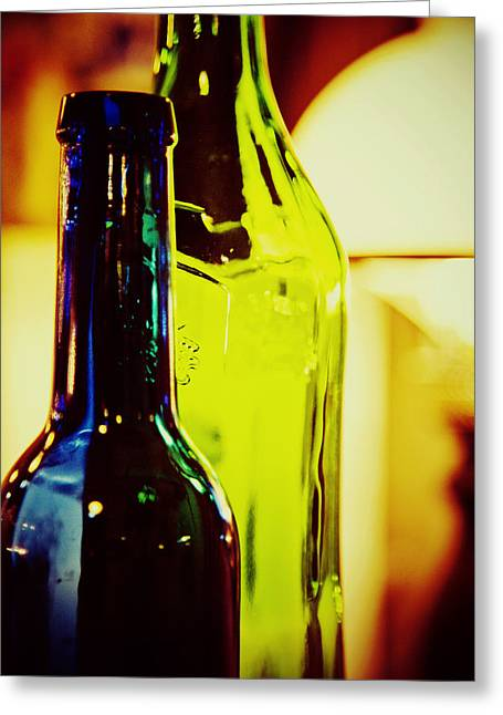 Colorful Bottles Greeting Cards - Bottles Greeting Card by Toni Hopper