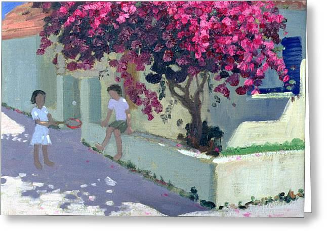 Flowering Bush Greeting Cards - Bouganvillaea Greeting Card by Andrew Macara