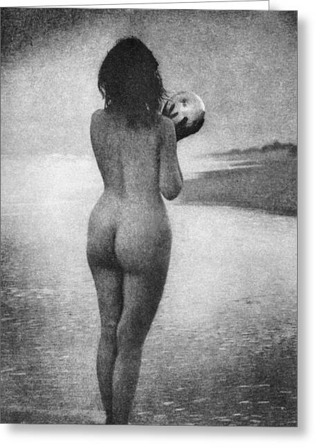 Photogravure Greeting Cards - Boughton: Dawn, 1909 Greeting Card by Granger