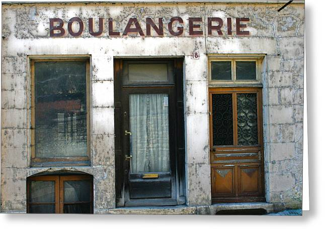 Old Store Greeting Cards - Boulangerie Greeting Card by Nomad Art And  Design