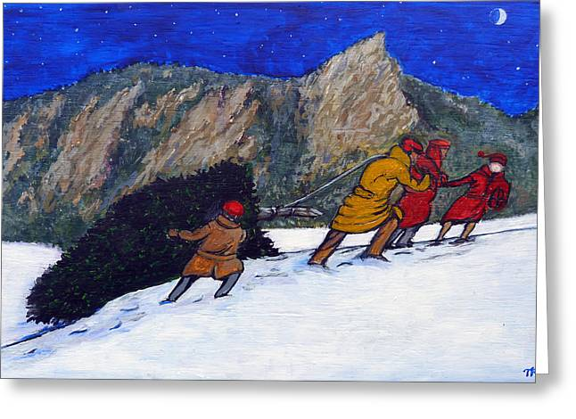Boulder Christmas Greeting Card by Tom Roderick