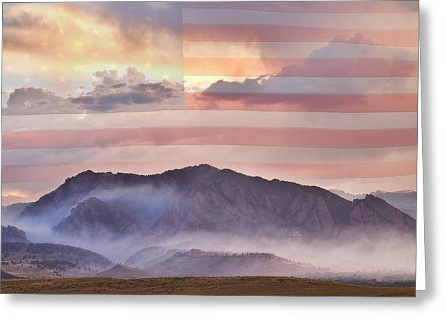 Colorado Wildfires Greeting Cards - Boulder Colorado Flatirons and The Flagstaff Fire USA Greeting Card by James BO  Insogna