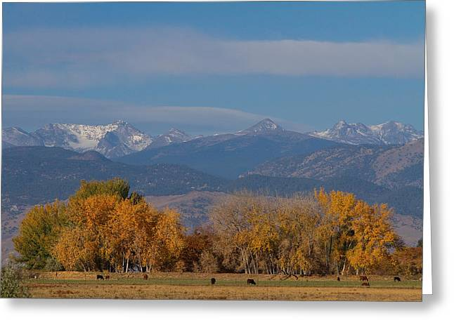 Grazing Snow Photographs Greeting Cards - Boulder County Colorado Continental Divide Autumn View Greeting Card by James BO  Insogna