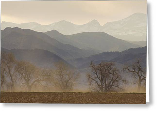 Colorado Wildfires Greeting Cards - Boulder County Colorado Layers Panorama Greeting Card by James BO  Insogna