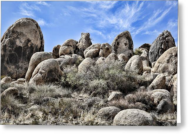 Surreal Landscape Greeting Cards - Boulder Populated Greeting Card by Kelley King