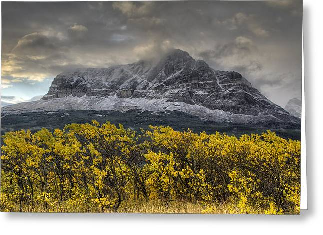 Many Glacier Greeting Cards - Boulder Ridge Greeting Card by Mark Kiver