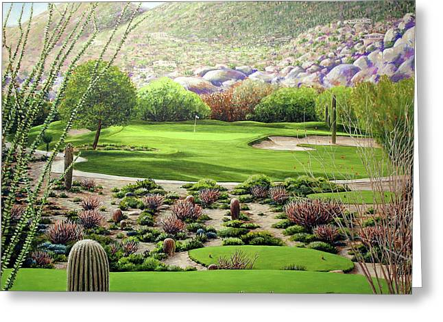 Golf Pictures Greeting Cards - Boulders South Number 7 Greeting Card by William Tockes