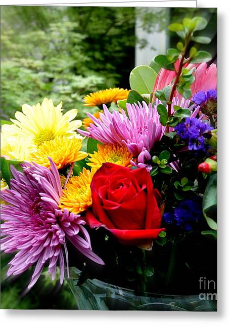 Bouquet  2 Greeting Card by Tanya  Searcy