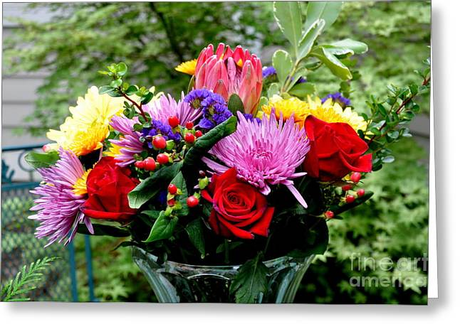 Bouquet  3 Greeting Card by Tanya  Searcy