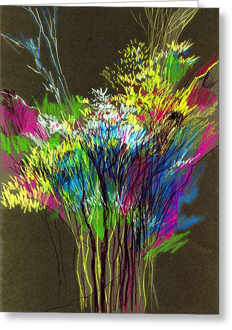 Anil Nene Greeting Cards - Bouquet Greeting Card by Anil Nene