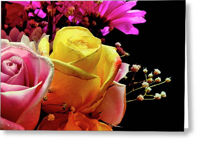 Card Stock Greeting Cards - Bouquet Greeting Card by Laura Mountainspring
