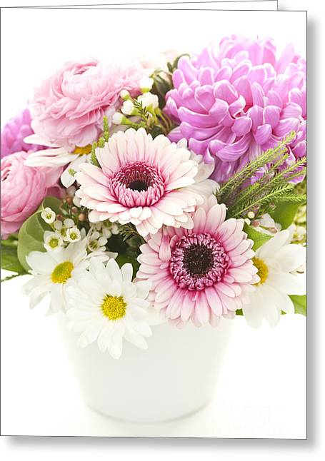 Colorful Blooms Greeting Cards - Bouquet of flowers Greeting Card by Elena Elisseeva