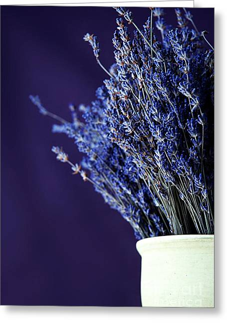 Bouquet Of Lavender Greeting Card by HD Connelly