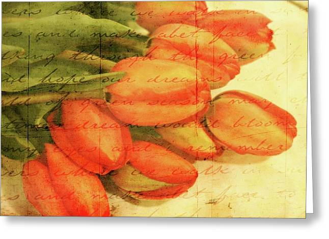 Oregon Flowers Greeting Cards - Bouquet of Tulips Greeting Card by Cathie Tyler