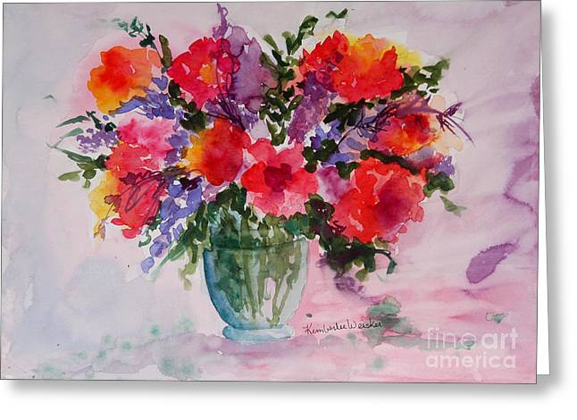 Bouquet of Wishes Greeting Card by Kimberlee Weisker