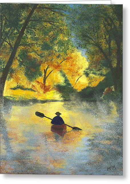 Sunrise Pastels Greeting Cards - Bourbeuse River Sunrise Greeting Card by Garry McMichael