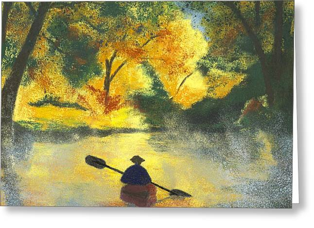 Bourbeuse River Sunrise Greeting Card by Garry McMichael