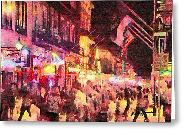 Bourbon Street Greeting Card by Anthony Caruso