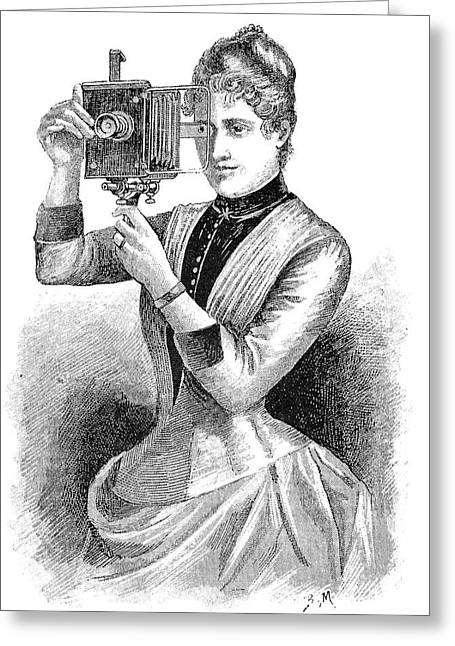 Annual Volume Greeting Cards - Bourdin Camera, 19th Century Greeting Card by