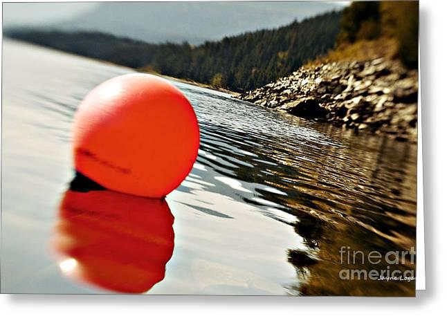 Bouys Greeting Cards - Bouy on Shuswap Lake Greeting Card by Jayne Logan Intveld