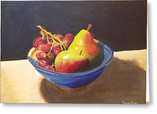Thomas Faires Greeting Cards - Bowl of Fruit No.1 Balance Greeting Card by Thomas Faires