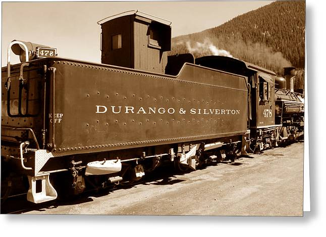 Old Caboose Greeting Cards - Box Car Greeting Card by David Lee Thompson