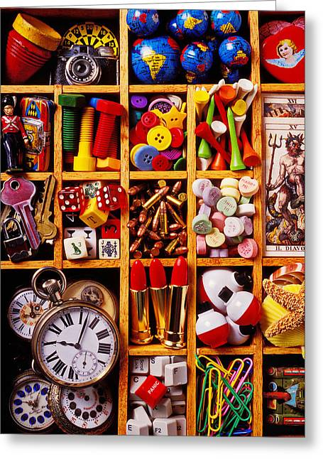 Compartments Greeting Cards - Box With Compartments Greeting Card by Garry Gay